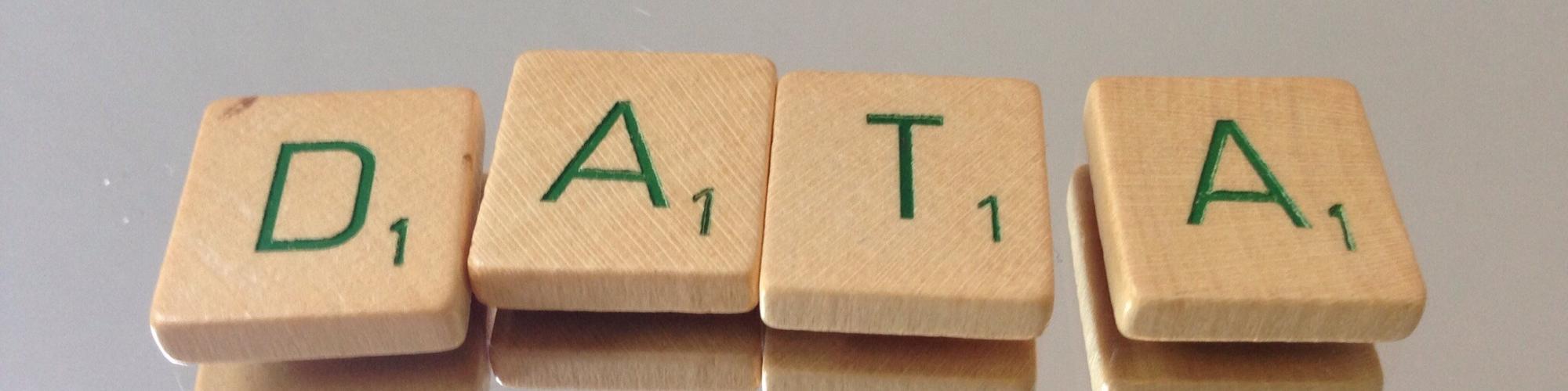 Data Scrabble tiles